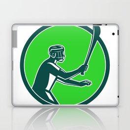 Hurling Player Icon Retro Laptop & iPad Skin