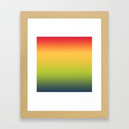 Abstract Colorful Tropical Blurred Gradient Framed Art Print