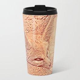 Sketchy Fennec Fox Travel Mug