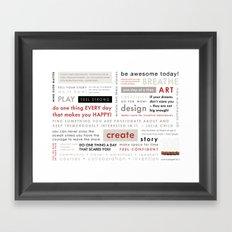 100 Wednesday Manifesto Framed Art Print