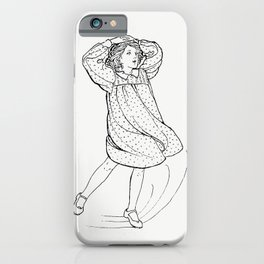 Little girl from Verses For Grannies Suggested By The Children illustrated by Dorothea A H Drew (189 iPhone Case