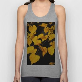 Autumn Foliage Yellow Leaves #decor #buyart #society6 Unisex Tank Top