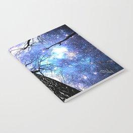 Wintry Trees Purple Blue Space  Notebook