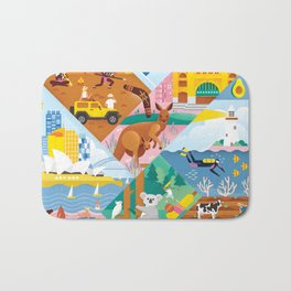 Travel To Australia Bath Mat