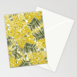 Yellow Mimosa Stationery Cards