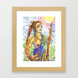 Cavewoman Framed Art Print