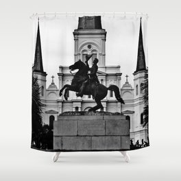 Jackson Square, squared Shower Curtain