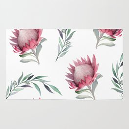 Protea and Gum Leaves Rug