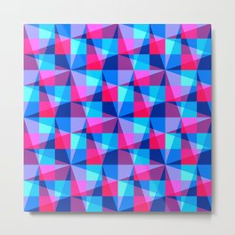 Overlapping grids Metal Print