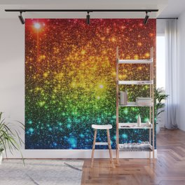 RainBoW Sparkle Stars Wall Mural