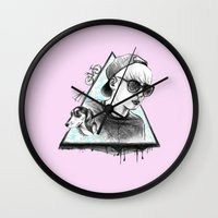 shinee Wall Clocks featuring SHINee realjonghyun90  by sophillustration