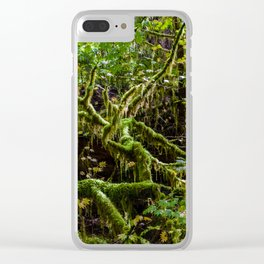 Deep in the rain forest Clear iPhone Case