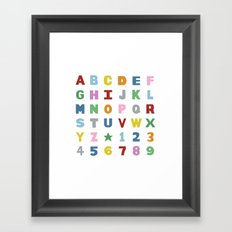 Alphabet on White Framed Art Print