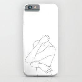 Woman's body minimal illustration - Dakota iPhone Case