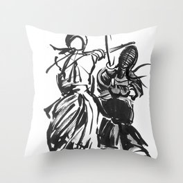 Be Brave. Throw Pillow