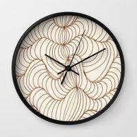illusion Wall Clocks featuring Illusion by Susann Mielke