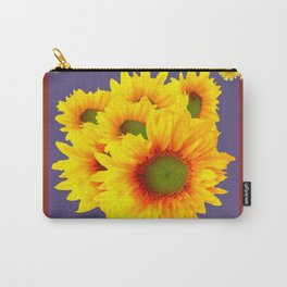 Pink Sunflowers Still life Vinette Carry-All Pouch