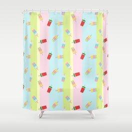 Popscicles Summer Pastel Colors Shower Curtain