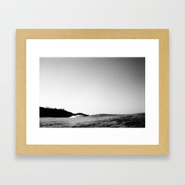 Empty Peak Framed Art Print