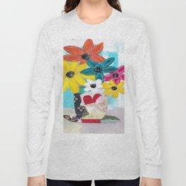 PATCHWORK VASE Long Sleeve T-shirt