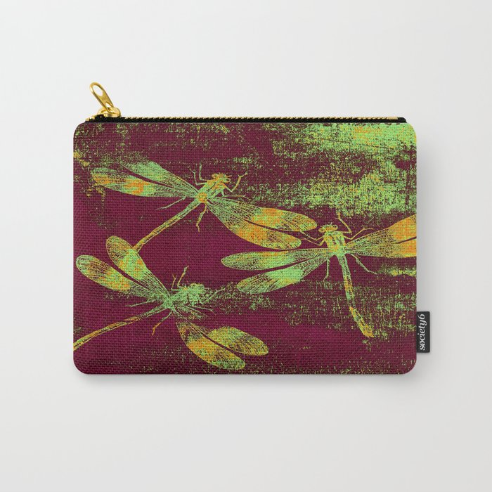 Mauritius Vintage Dragonflies QRF Carry-All Pouch