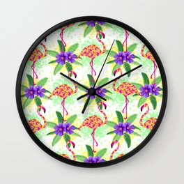 Tropical Party Wall Clock