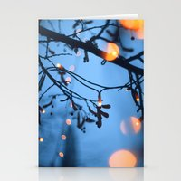 fireflies Stationery Cards featuring Fireflies by Den Brooks