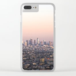 Los Angeles Sunset Clear iPhone Case