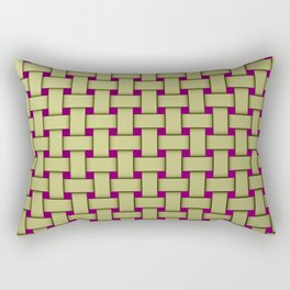 colored stripe pattern with rectangles and Rectangular Pillow