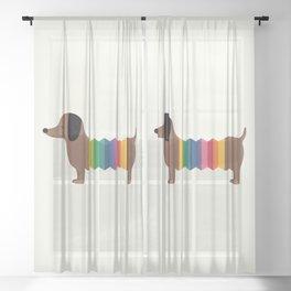 Rainbow Dooooog Sheer Curtain