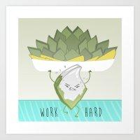 Sweet resolutions - Hard work barfi Art Print