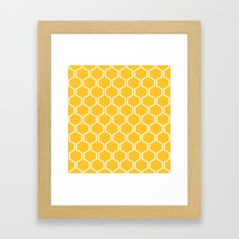 BEAUTY OF NATURE (bee , bees , yellow) Framed Art Print