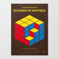 No775 My The Pursuit of Happyness minimal movie poster Canvas Print