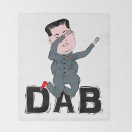 Kim Jong Un Dabbing Throw Blanket