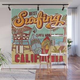 The Best Surfing – Santa Monica Beach Wall Mural