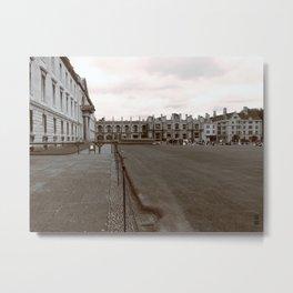 Student life scene in Cambridge town Metal Print