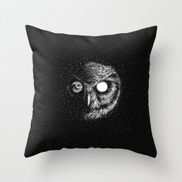 Moon Blinked Throw Pillow