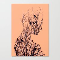 birds Canvas Prints featuring Birds by Andreas Lie