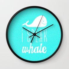 I Speak Whale Wall Clock