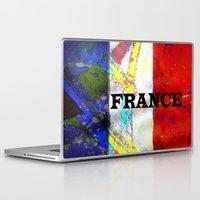 france Laptop & iPad Skins featuring FRANCE by Brian Raggatt