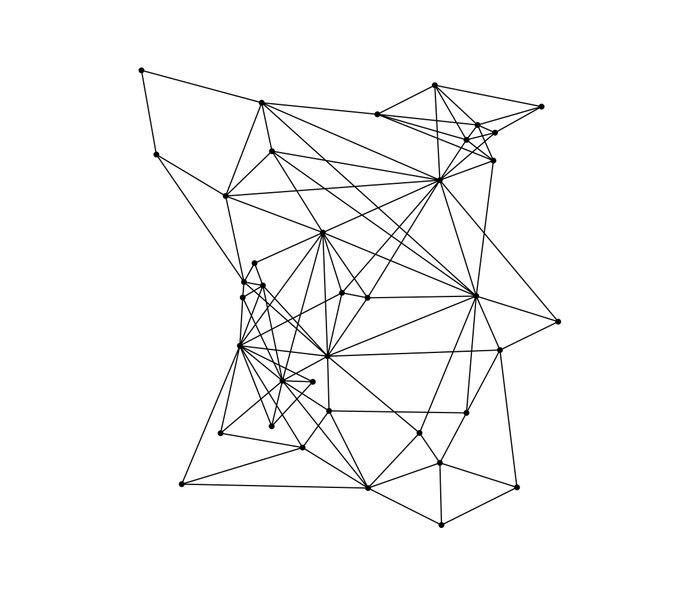 White Geometric Dots and Lines Metal Travel Mug