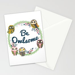 Be Owlsome Round Stationery Cards