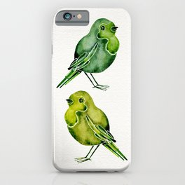 Parakeets iPhone Case