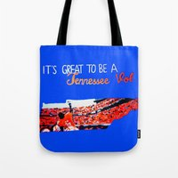 tennessee Tote Bags featuring Tennessee Volunteers by megan matthews