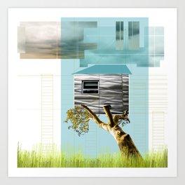 Urban Tree House Art Print