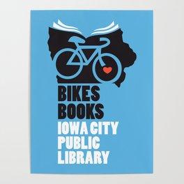 Bikes Books Iowa City Public Library Poster