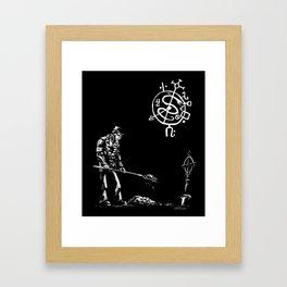 Voodoo Gravedigger Framed Art Print