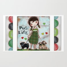 Pug Life - by Diane Duda Rug