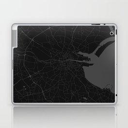 Black on Grey Dublin Street Map Laptop & iPad Skin
