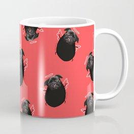 Black Angel Pug Coffee Mug